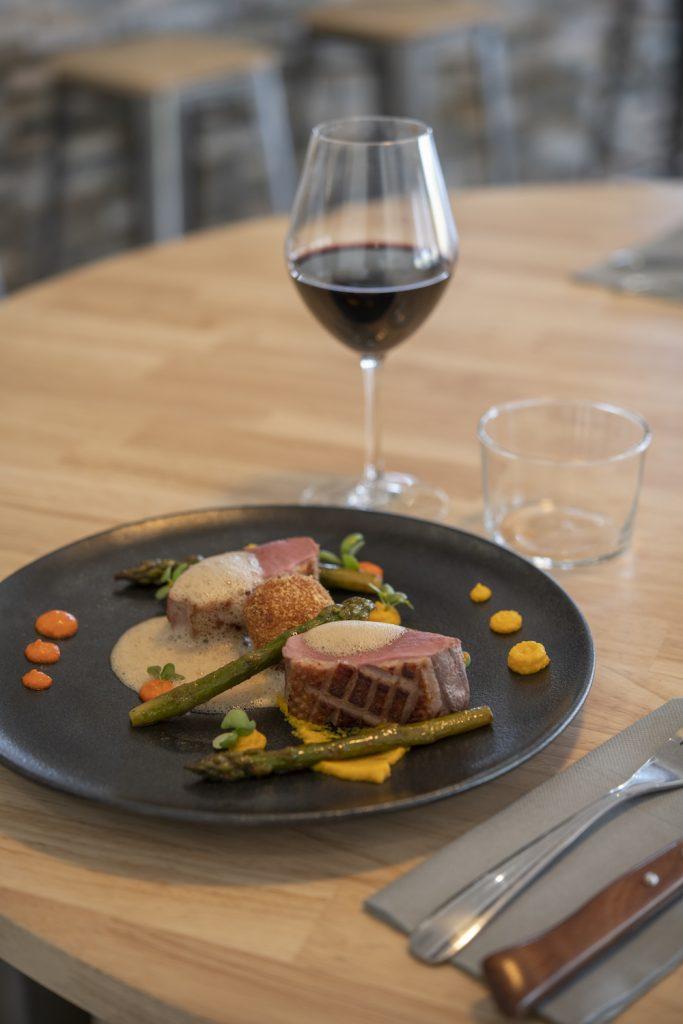 Assiette Dressée par Alan Lair, chef du restaurant Plat Beroi
