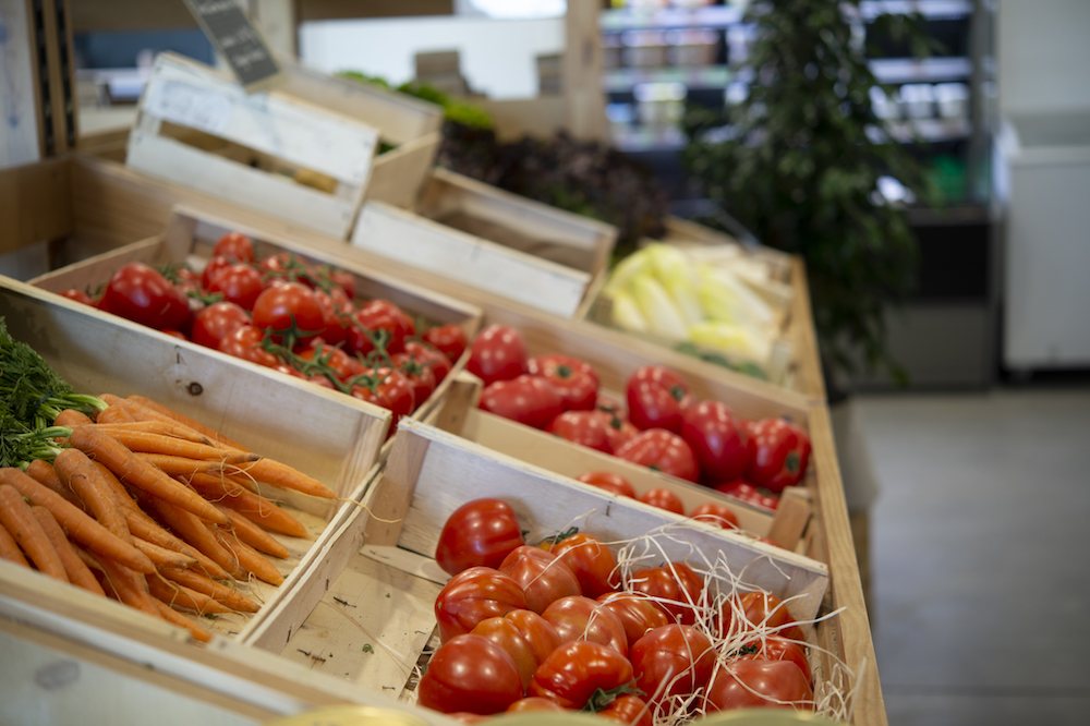Espace de vente Plat Beroi, les légumes