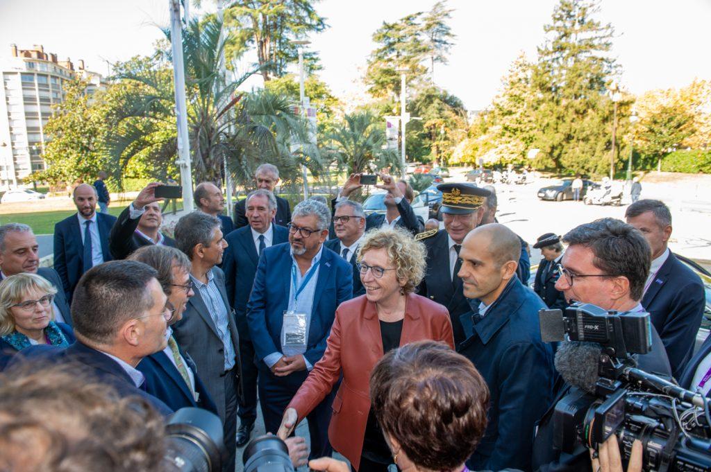 Muriel Pénicaud Ministre du travail  lors de son arrivée  au congrès de l'UNEA au Palais Beaumont à Pau