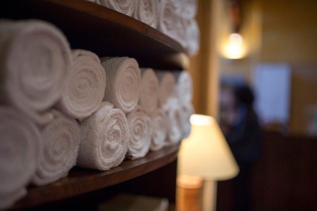 SPA Terra Nostra, serviettes délicatement pliées