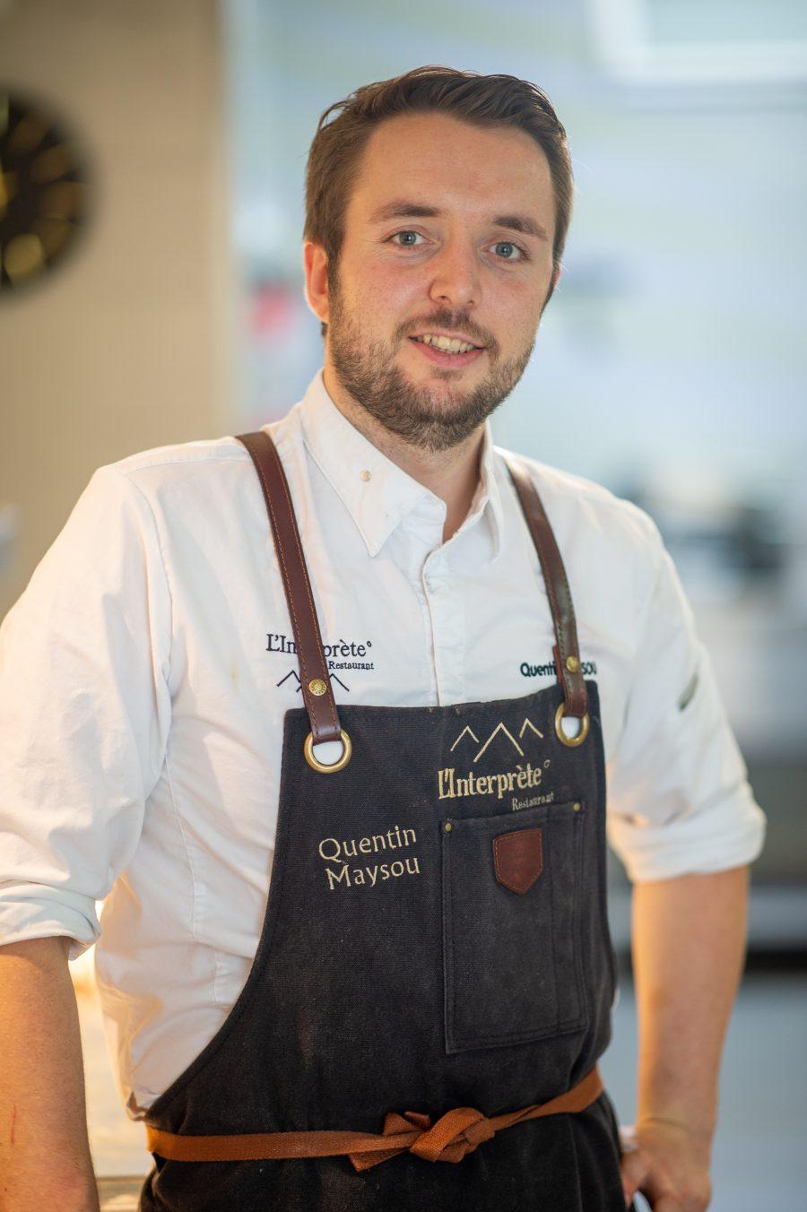Quentin Maysou, chez du restaurant l'Interprète à Pau