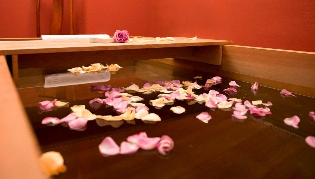 SPA Terra Nostra, bain pétales de rose